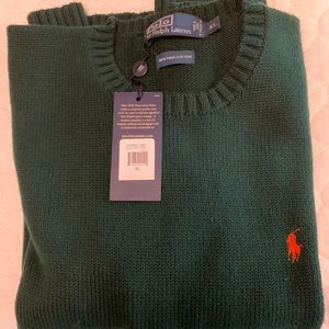 Polo Sweater XL - New with Tags - Dark Green